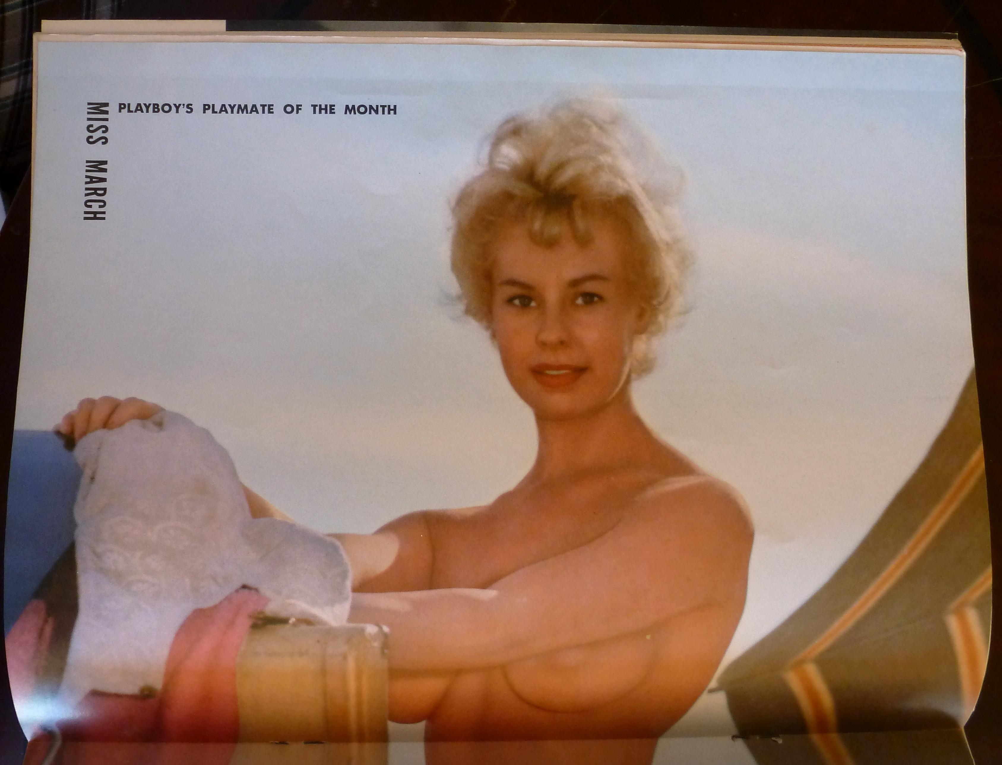 Playboy Magazine-March 1959-Audrey Daston (Playboy ) at A