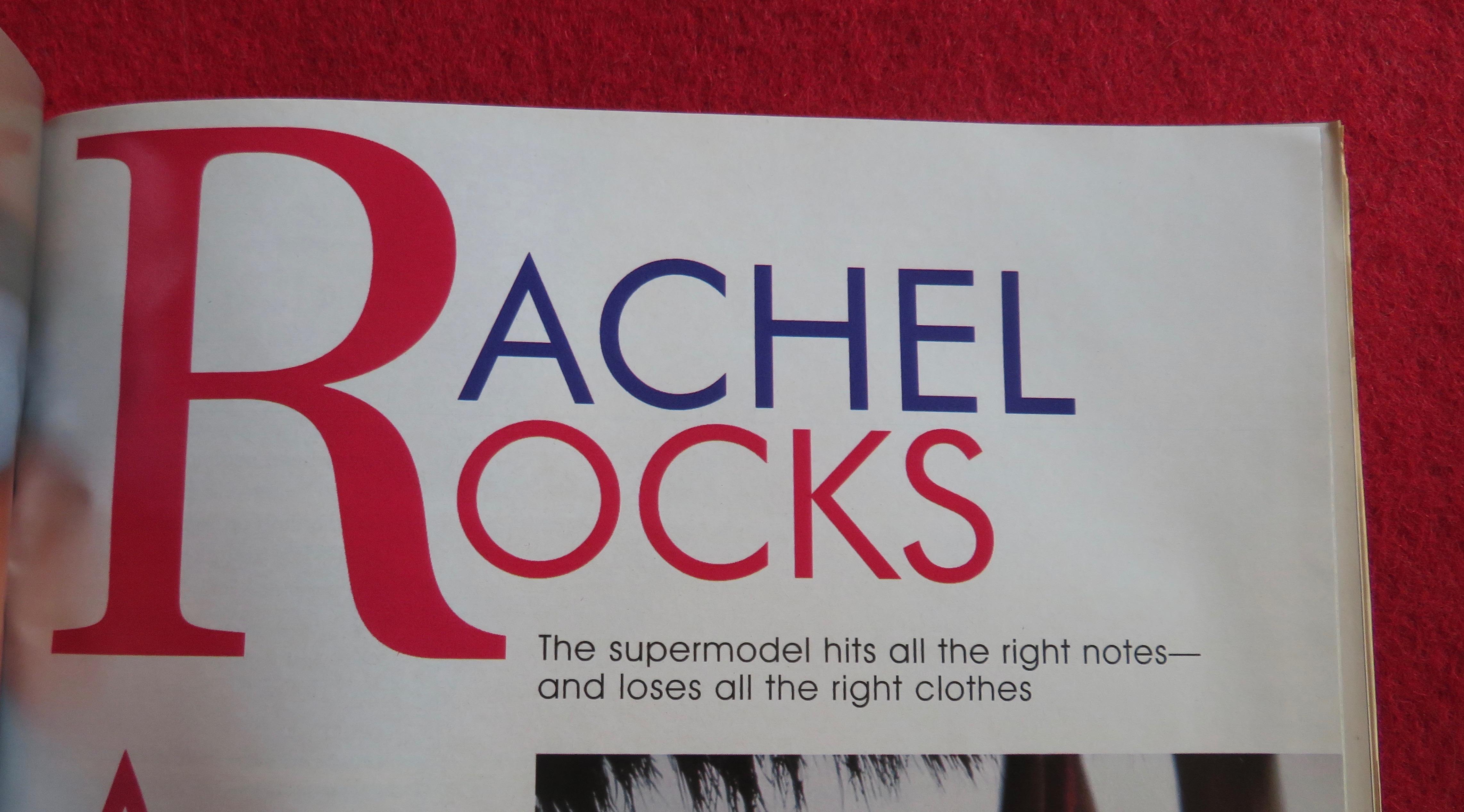 PLAYBOY April 2004 Rachel Hunter Krista Kelly E. L