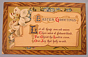 Easter Greetings Postcard with Written Note (Image1)