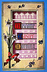 Welcome Easter Morning Postcard (Embossed Design) (Image1)