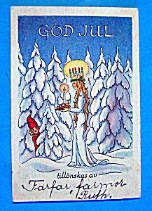 God Jul, Tillonskas Av Christmas Postcard (Image1)