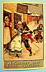 Cavalier Xmas Greeting Postcard (Image1)