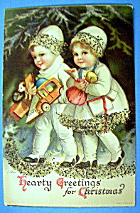 Hearty Greeting for Christmas Postcard (Image1)