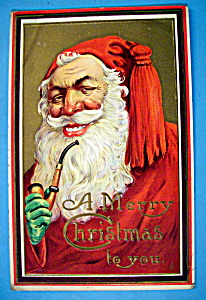 Merry Christmas To You Postcard w/Smiling Santa Claus (Image1)