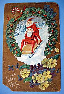 All Good Wishes For Christmas Postcard (Image1)