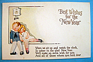 Postcard Of Best Wishes For The New Year-2 Children Sit (Image1)
