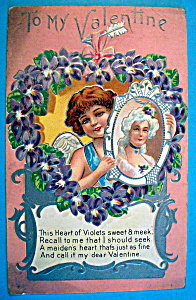 To My Valentine Postcard with Angel Holding a Picture (Image1)