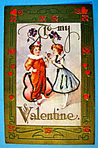 To My Valentine Postcard with Couple Celerating (Image1)