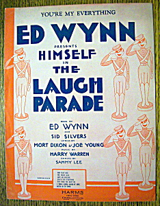 Sheet Music For 1931 You're My Everything W/ed Wynn