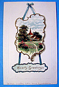 Hearty Greetings Postcard