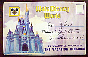 Walt Disney World Vacation Kingdom Postcard Folder