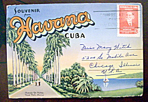 Havana Cuba Souvenir Postcard Folder (Image1)
