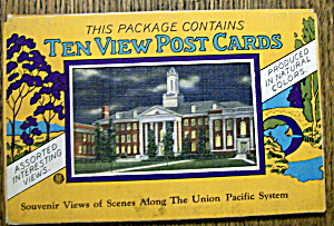 10 Souvenir Postcards Of The Union Pacific System (Image1)