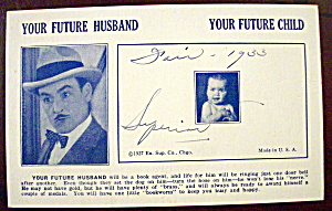 Your Future Husband & Your Future Child Postcard