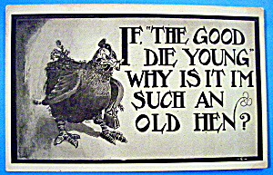 If The Good Die Young Postcard