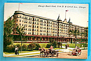 Chicago Beach Hotel Postcard-Chicago (Image1)
