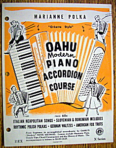 Sheet Music For 1957 Marianne Polka
