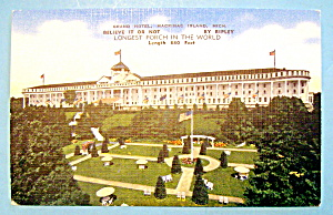Grand Hotel, Mackinac Island, Michigan Postcard (Image1)