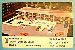 Warwick Motor Inn, St. Louis Postcard (Image1)