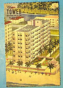 The Tower, Miami Beach, Florida Postcard (Image1)