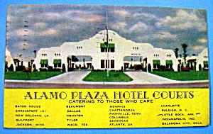 Alamo Plaza Hotel Courts Postcard (Image1)