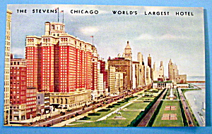The Stevens Hotel, Chicago Postcard (Image1)