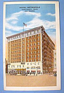 Hotel Metropole, Cincinnati, OH. Postcard (Image1)