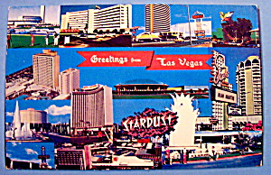 The Strip Hotels, Las Vegas Postcard (Image1)