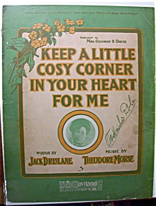 Sheet Music - Keep A Little Cosy Corner In Your Heart
