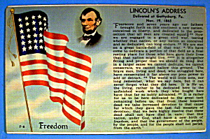 Lincoln's Address Postcard