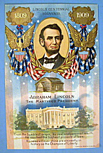 Abraham Lincoln Centennial Postcard (The Martyred)