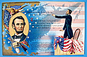 Abraham Lincoln Centennial Postcard-Martyred President (Image1)