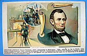 Abraham Lincoln Postcard (Lincoln's Life) (Image1)