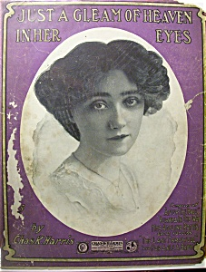 Sheet Music Of 1904 Just A Gleam Of Heaven In Her Eyes