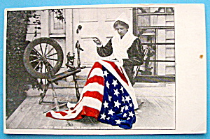 Betsy Ross & The United States Flag Postcard (Image1)