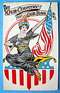 Our Country & Our Flag Postcard (Image1)