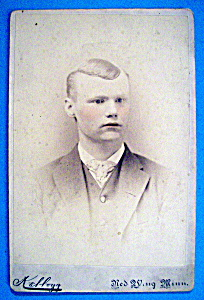 Rosy Cheeks - Tinted Cabinet Photo of a Young Man (Image1)