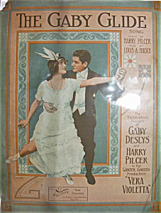 Sheet Music Of 1911 The Gaby Glide Song