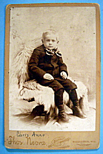 I Don't Feel So Good - Cabinet Photo of a Little Boy (Image1)