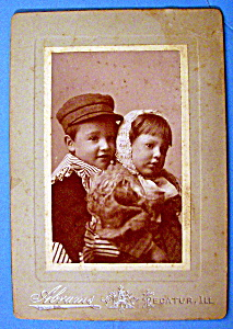 Together Forever - Cabinet Photo of Two Children (Image1)
