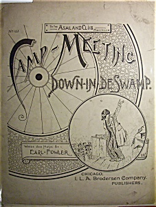 Sheet Music Of 1893 Camp - Meeting Down In De Swamp