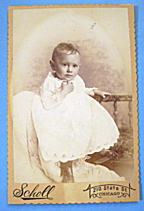 The Young Thinker - Cabinet Photo of a Thoughtful Child (Image1)