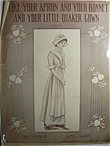 Sheet Music Of 1911 I Like Your Apron