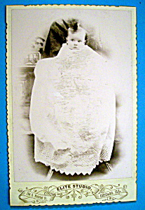 Peek A Boo - Die Cut Cabinet Photo of a Baby (Image1)