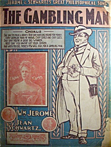Sheet Music Of 1902 The Gambling Man