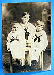 Sailor Boys - Cabinet Photo of Mama's Little Sailors (Image1)