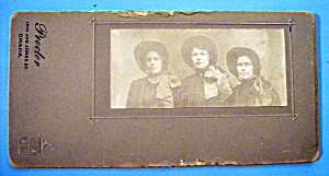 Frontier Girls - Cabinet Photo - Three Women In Bonnets