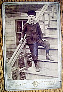 A Taste Of The Old Country - Cabinet Photo Of A Boy