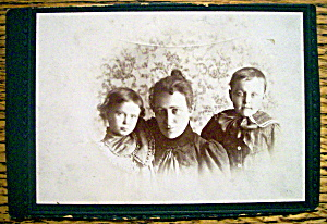 Just The Three Of Us - Cabinet Photo Of A Family