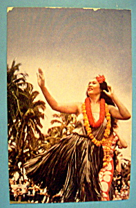 Beautiful Hula Dancer in Hawaii Postcard (Image1)